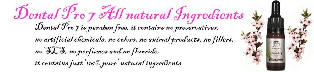Dental Pro 7 All natural Ingredients